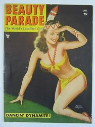 Beauty Parade Magazine Vol. 9 6, January 1951 Fn- Great Peter Driben Cover