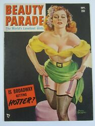 Beauty Parade Magazine Vol. 10 4, Sept.1951 Vg/fn Driben Cover Betty Page