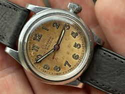 Rare 1942 Rolex Oyster Raleigh Ww2 Military Original Dial Stainless Manual Runs
