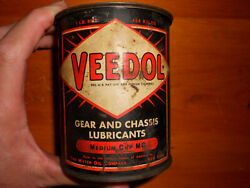Veedol Vintage Can 1 Pound Gear Grease Medium Cup Mc 1940
