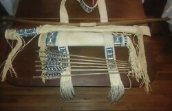Unique Western Wall Decor Native American Style Beaded Bow Case And Quiver