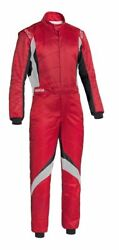 Fia Sparco Racing Suit Superspeed Rs-9 Red Flame Resistant Rally Light Stock 21