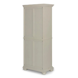 Homestyles Pantry Cabinet 30 In. X 72 In. 6-adjustable Shelf Wood Glossy White