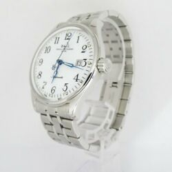 Ball Watch Train Master Nm3288d-sj-wh Limited Watch White Silver Excellent W/box
