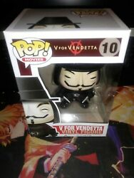 Funko Pop Movies V For Vendetta 10 Vaulted Authentic Guaranteed. W/ Case