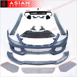 For Mercedes Benz W222 S-class Body Kit Bumper Side Skirts Diffuser 2013 - 2018