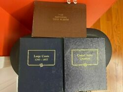 3 Us Coin Collector Albums 1 Wayte Raymond2 Whitman Classic Lg Cent/quarters