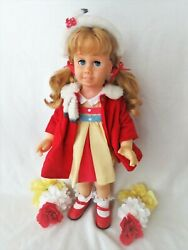 Vintage Chatty Cathy Doll Pigtails - Pat'd. In Canada 1962 On Stamp - Hard Face