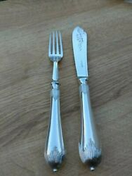 24 Rare Walker And Hall Georgian Queen Anne Fish Knives Forks Fitted Case Quality