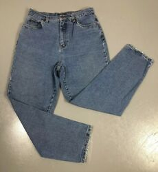 Vintage High Waisted Mom Jeans Tapered Medium Wash Womens 12 Bill Blass Easy Fit