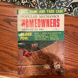 1961 Popular Mechanics Homeowners Home And Yard Care Plans Guide Hardcover Book