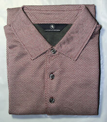 Hart Schaffner Marx Mens New 99 L/s 1/4 Button Pullover Shirt L Large Red Nwt