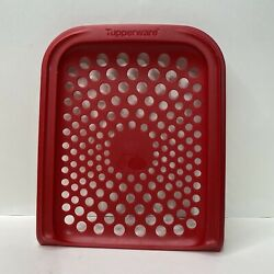Tupperware Modular Mates Onion amp; Garlic Smart Container Red Lid Replacement Top