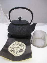 Mariage Freres Cast Iron Black Teapot With Stand Insert And Booklet