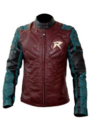 Robin The Titans Genuine Slim Fit Motorcycle Leather Jacket For Men- Xs To 4xl