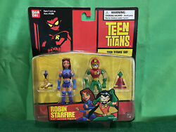 Teen Titans Go Robin And Starfire 2003 Bandai 3.5 Inch New In Box Action Figures