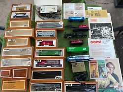 Large Selection Lot Of Vintage Tyco Train Cars Midnight Special Santa Fe And More