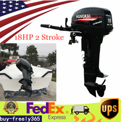 18hp 2stroke Outboard Motor Fishing Inflatable Boat Engine W/water Cooling Usa