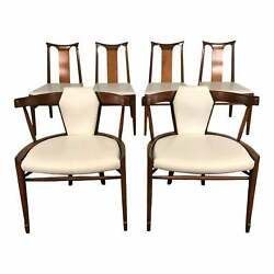 Mid-century Modern Dining Chair Set Of 6 By White Furniture Free Ship