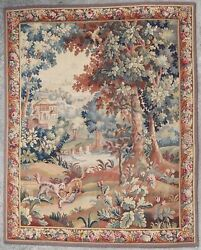 Antique Rug/carpet/textile/tapestry European French Aubusson 19th Century