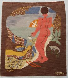 Antique Rug/carpet/textile/tapestry European French 1975