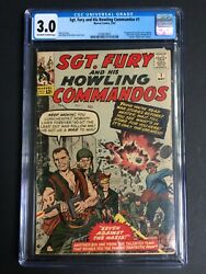 Sgt. Fury 1 First Appearance Of Nick Fury New Movie Disney+ Cgc 3.0 0338014001