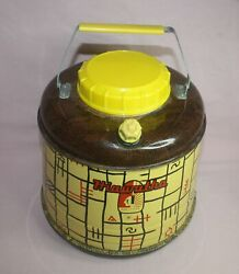 Vintage 50's Hiawatha Thermos Drink / Water Picnic Cooler 16 Cup Works U.s.a.