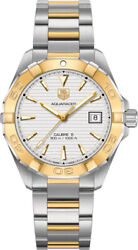 Tag Heuer Aquaracer Automatic White Dial Steel And 18kt Yellow Gold Menand039s Watch