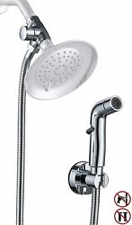 Dog Shower Sprayer Attachment For Fast And Clean Pet Showering, Chrome  Sb5