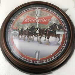 The Bradford Exchange Budweiser Illuminated Automatic 14andrdquo Clydesdale Clock New