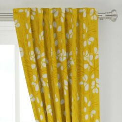 Pumpkin Seeds Food Grow Orange Squash 50 Wide Curtain Panel By Roostery