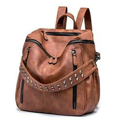 Women PU Leather Backpack Purse Convertible Ladies Fashion Casual A abrown $56.26