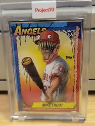 2021 Topps Project 70 Mike Trout By Alex Pardee 34/51 Artist Proof