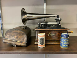 Edison Phonograph Model E Cylinder Player Great Used Working Condition