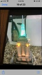 """Dept 56 """"empire State Building"""" Christmas In The City Series With Box. Excel"""