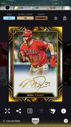 2021 Topps Bunt Mike Trout Digital Card Lot Three Iconic And One Super Rare