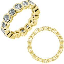 1.25 Carat Real White Diamond Bubbles Antique Eternity Band Ring 14k Yellow Gold