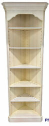 """Ethan Allen Lot Of 2 Bookcases Corner Shelf Unit Display French Country 72"""" Tall"""