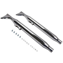 Silver 36andrdquo Fishtail Exhaust Pipe Slip Ons 3 O.d Pour Harley Touring 1995-2016