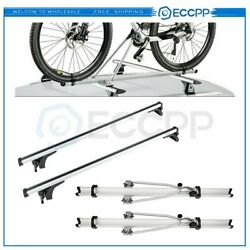 Roof Rack Car Crossbar For Silver 50 Universal Luggage Cargo + Rack Bicycle