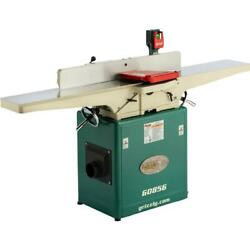 Grizzly G0856 8 X 72 Jointer With Helical Cutterhead And Mobile Base
