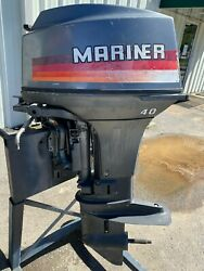 Used 1983 Mariner/yamaha 40 Hp 2-cyl Carb 2-stroke 15 S Outboard Motor