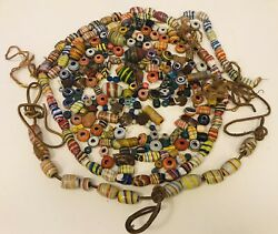 Antique Lot Of Venetian African Glass Colored Beads 3 Lbs Worth Wow