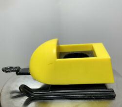 Vintage Fisher Price Little People Snowmobile Sled Black/yellow