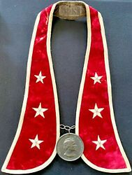 1865 Andrew Johnson Presidential Native American Indian Peace Medal W/collar