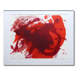 Gls Kazuo Shiraga Untitled Abstract Painting Writer39s Autographed Gutai Art A