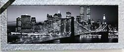Special Price Imported From Italy Antiquestyle Monochrome Brooklyn Bridge Nigh