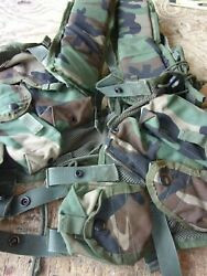 Us Military Issue Enhanced Tactical Load Bearing Vest - 6 Pouches.