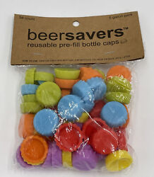 54 Silicone Reusable Bottle Cap Cover Sealer Beer Soda Wine Savers 5 Gallon Pack