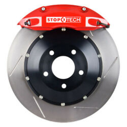 Disc Brake Upgrade Kit-red Caliper / Slotted Disc Front Stoptech 83.893.4300.71